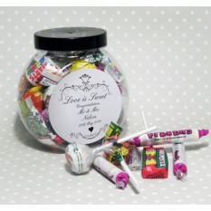 Hampers and Gifts to the UK - Send the Personalised Sweet Jar - Ornate Swirl