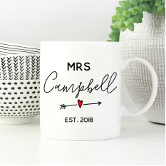 Hampers and Gifts to the UK - Send the Personalised Mug - Mrs