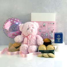 Hampers and Gifts to the UK - Send the It's A Girl Tea & Biscuits Hamper
