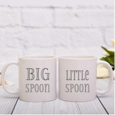 Hampers and Gifts to the UK - Send the Big Spoon Little Spoon Mug Set