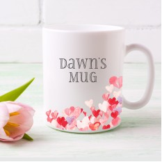 Hampers and Gifts to the UK - Send the Personalised Multi Hearts Mug