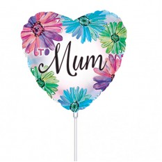 Hampers and Gifts to the UK - Send the Mum Heart Shape Mini Balloon