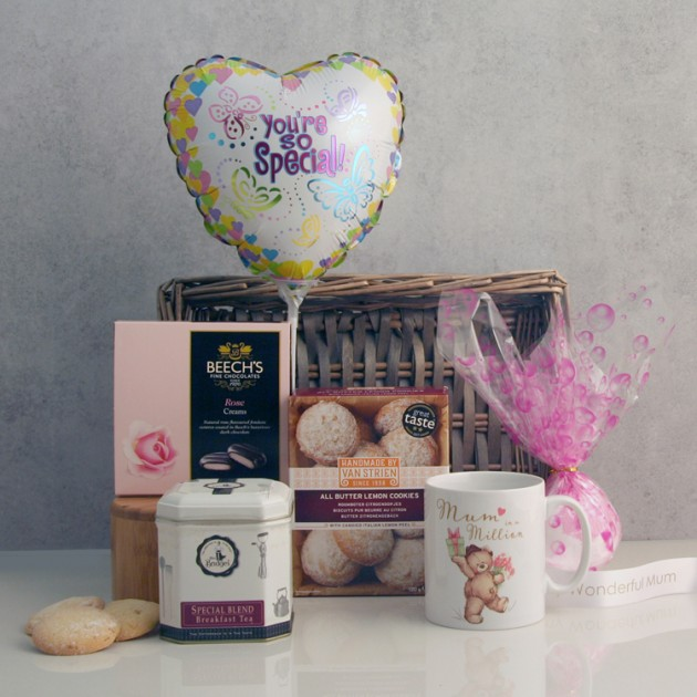 Hampers and Gifts to the UK - Send the Mum In A Million Gift Basket