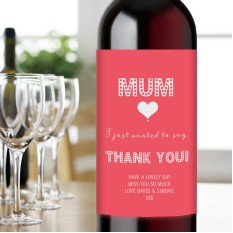 Hampers and Gifts to the UK - Send the Thank You Mum Wine Gift