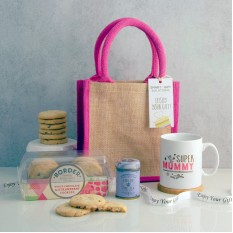 Hampers and Gifts to the UK - Send the Super Mummy Tea and Biscuits Hamper