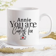 Hampers and Gifts to the UK - Send the Personalised You Are My Cup of Tea Gift Mug