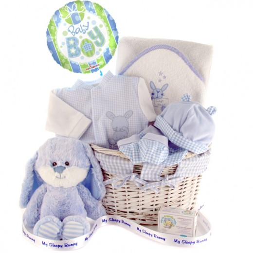 Hampers and Gifts to the UK - Send the My Sleep Bunny Baby Boy Gift Hamper