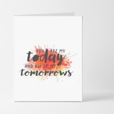Hampers and Gifts to the UK - Send the Today And All of My Tomorrows Card