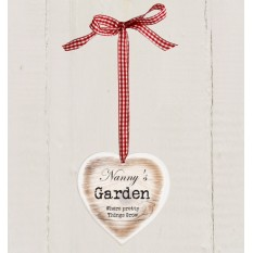 Hampers and Gifts to the UK - Send the Rustic Wooden Heart Garden Decoration