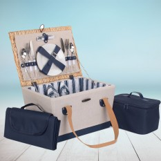 Hampers and Gifts to the UK - Send the Nautical Charm Picnic Basket for Two