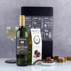 Hampers and Gifts to the UK - Send the Personalised  Any Age Birthday Wine Gift