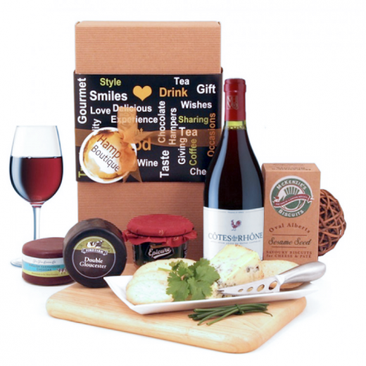 Hampers and Gifts to the UK - Send the Wine Cheese and Pate Gift Box