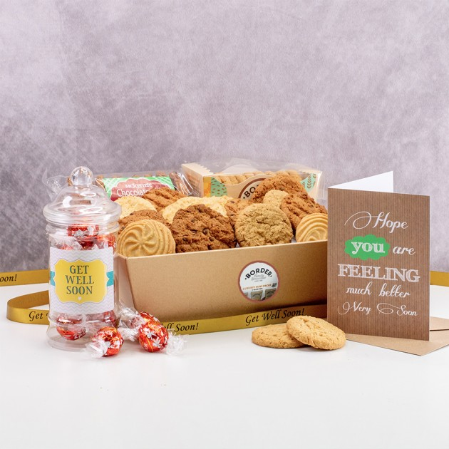 Hampers and Gifts to the UK - Send the Biscuit Favourites Hamper - GET WELL