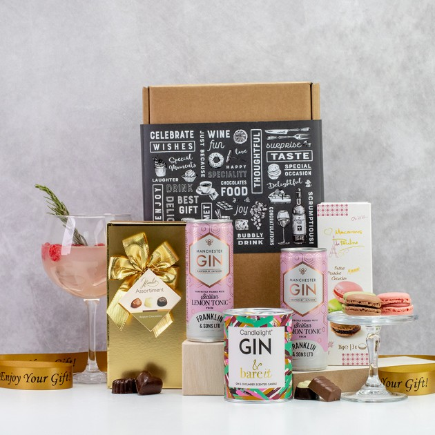 Hampers and Gifts to the UK - Send the Gin & Bare It Hamper