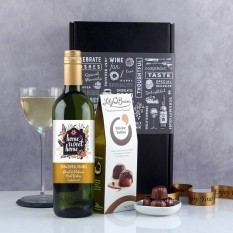 Hampers and Gifts to the UK - Send the Personalised New Home Wine Gift