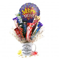 Hampers and Gifts to the UK - Send the New Home Chocolate Medley Bouquet In A Mug