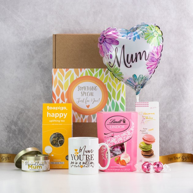 Hampers and Gifts to the UK - Send the Mum In A Million Gift Hamper with Balloon