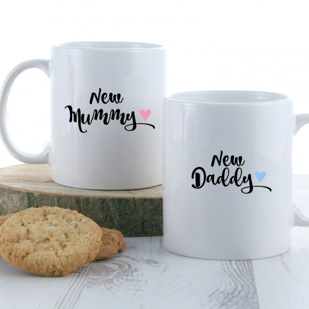 Hampers and Gifts to the UK - Send the New Mummy and Daddy Coffee Mugs
