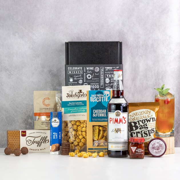 Hampers and Gifts to the UK - Send the Pimms and Savouries Luxury Hamper