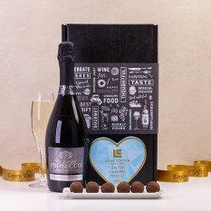 Hampers and Gifts to the UK - Send the Prosecco and Love Cocoa Heart Truffles