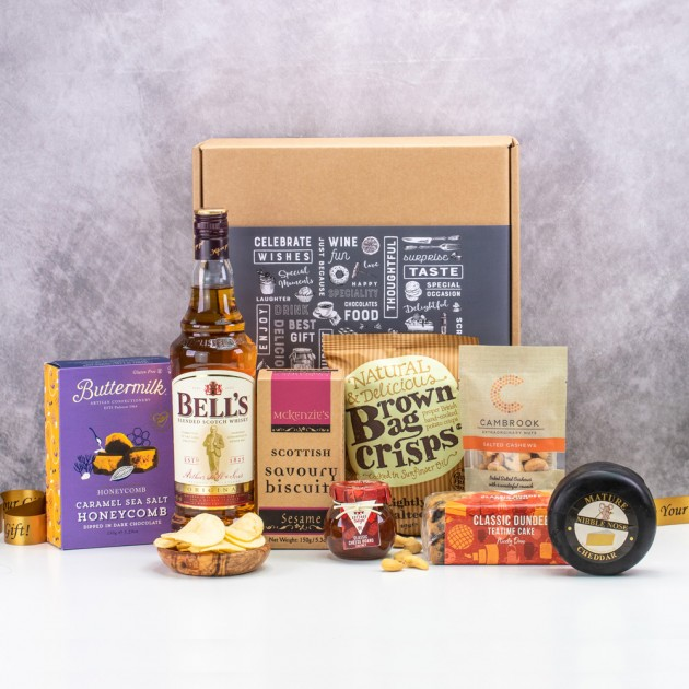 Hampers and Gifts to the UK - Send the Sweet and Savoury Hamper with Whisky