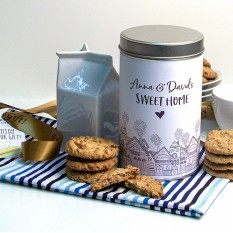 Hampers and Gifts to the UK - Send the Sweet Home Tin with a Dozen Cookies