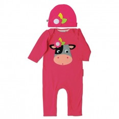 Olive & Moss Collette the Cow Playsuit and Hat