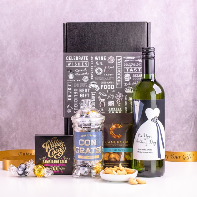 Hampers and Gifts to the UK - Send the Personalised On Your Wedding Day Gift Box