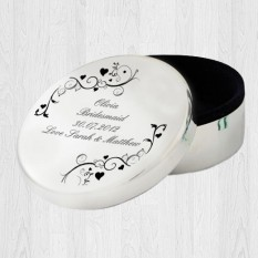 Hampers and Gifts to the UK - Send the Personalised Ornate Swirl Trinket Box