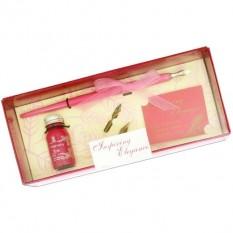 Pink Calligraphy Gift Set