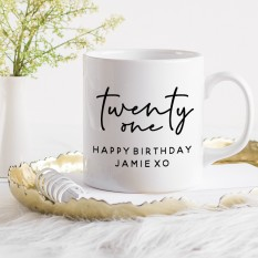 Hampers and Gifts to the UK - Send the Personalised Birthday Mug - Twenty One