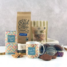 Hampers and Gifts to the UK - Send the Thank You Gourmet Coffee and Cookies