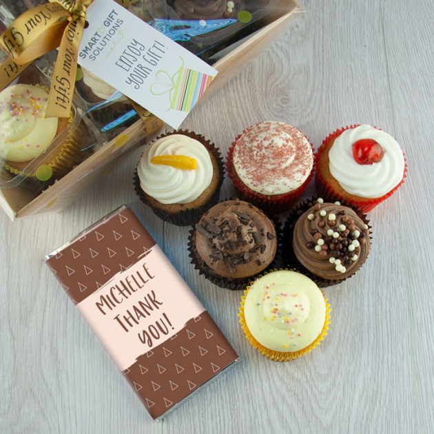 Hampers and Gifts to the UK - Send the Personalised Thank You! Heavenly Cupcakes