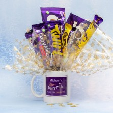 Personalised Enjoy the Moment Diary Milk Mug Bouquet