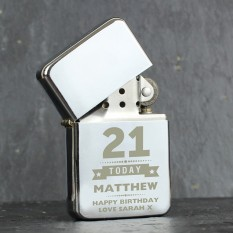Hampers and Gifts to the UK - Send the Personalised Any Age Birthday Lighter