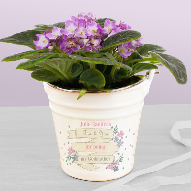 Hampers and Gifts to the UK - Send the Personalised Garden Bloom Plant Pot