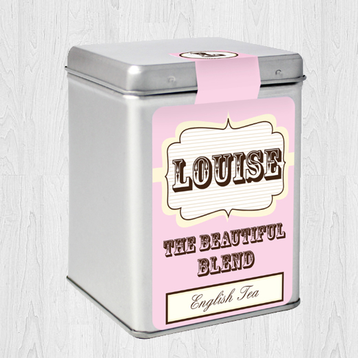Hampers and Gifts to the UK - Send the Personalised Tea Caddy Beautiful Blend