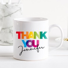 Hampers and Gifts to the UK - Send the Personalised Rainbow Thank You Mug