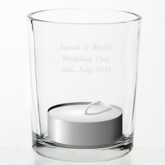 Hampers and Gifts to the UK - Send the Personalised Votive Glass Candle Holder