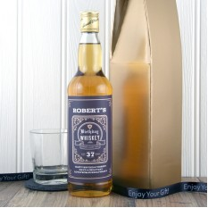 Hampers and Gifts to the UK - Send the Personalised Any Age Birthday Whisky Gift Box