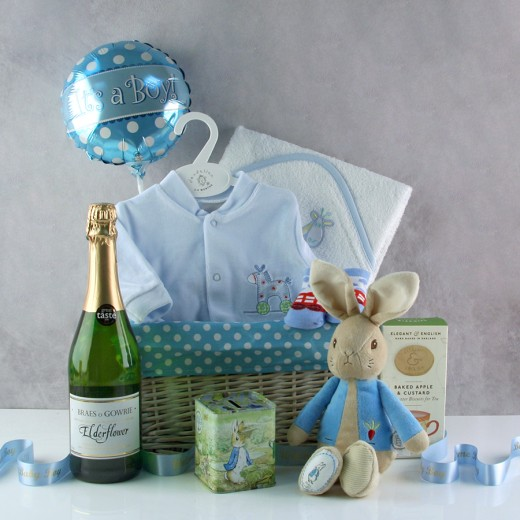 Hampers and Gifts to the UK - Send the Sweet Baby Boy Gift Basket