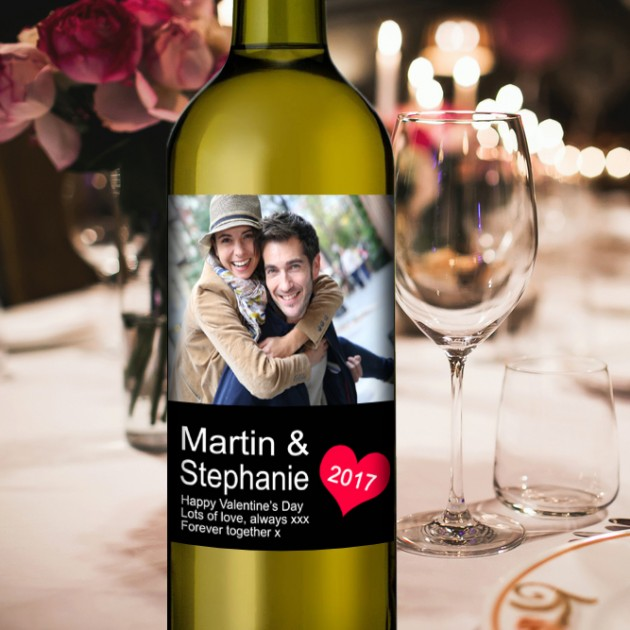 Hampers and Gifts to the UK - Send the Couple's Personalised Wine Gift