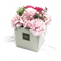 Hampers and Gifts to the UK - Send the Soap Flower Bouquet - Roses & Carnations
