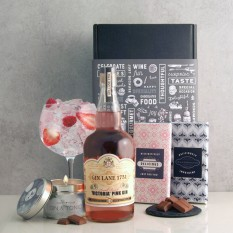 Hampers and Gifts to the UK - Send the Victoria Pink Gin and Chocolate Surprise