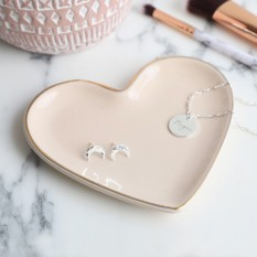 Hampers and Gifts to the UK - Send the Heart Shape Pink Trinket Dish
