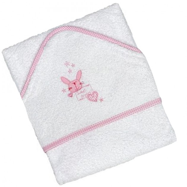 Hampers and Gifts to the UK - Send the Baby Pink Hooded Towel