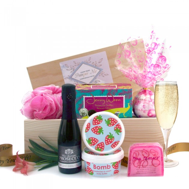 Hampers and Gifts to the UK - Send the Pink Pamper Hamper