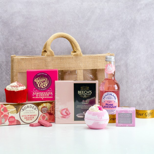 Hampers and Gifts to the UK - Send the Pink Sensations Pamper Gift