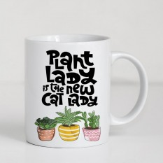 Hampers and Gifts to the UK - Send the Plant Lady Is the New Cat Lady Mug