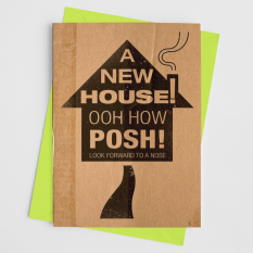 Hampers and Gifts to the UK - Send the Posh New House Card